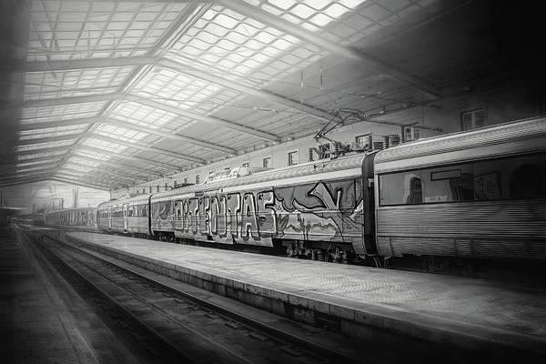 Commuter Rail Wall Art - Photograph - Santa Apolonia Railway Station Lisbon by Carol Japp
