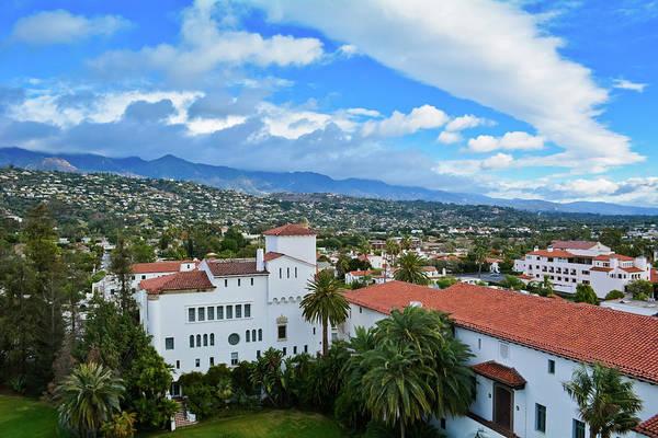 Photograph - Santa Barbara Courthouse Cityscape by Kyle Hanson