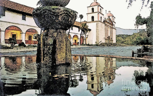 Mission Santa Barbara Photograph - Santa Barbara Mission by Linda  Parker