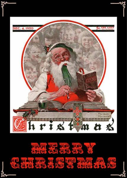 Photograph - Santa Checks The Budget by Doc Braham
