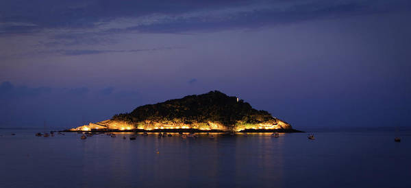 San Sebastian Photograph - Santa Clara Island At Night by Xabier Artola-zubillaga [www.flickr.com/photos/artzubi]