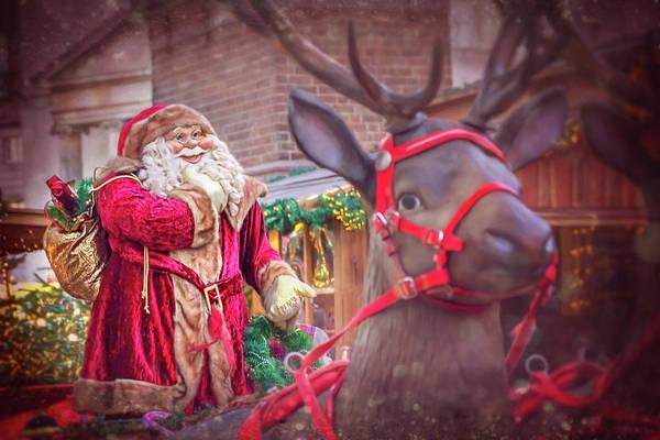 Santa Claus Photograph - Santa Claus And His Reindeer by Carol Japp