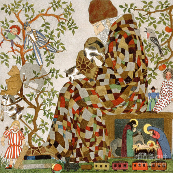 Wall Art - Painting - Santa Claus Room, Circa 1910 by Trautl Conrad