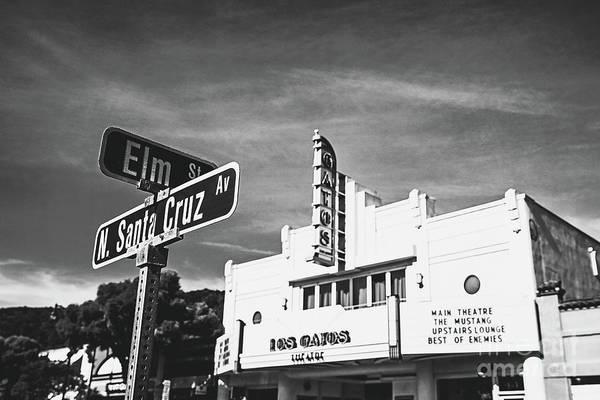 Wall Art - Photograph - Santa Cruz Ave. Los Gatos - Bw by Scott Pellegrin