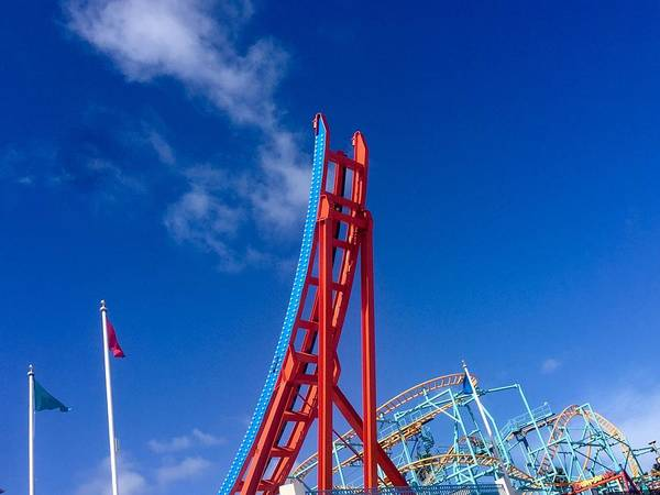 Photograph - Santa Cruz Boardwalk Roller Coasters  by Gia Marie Houck