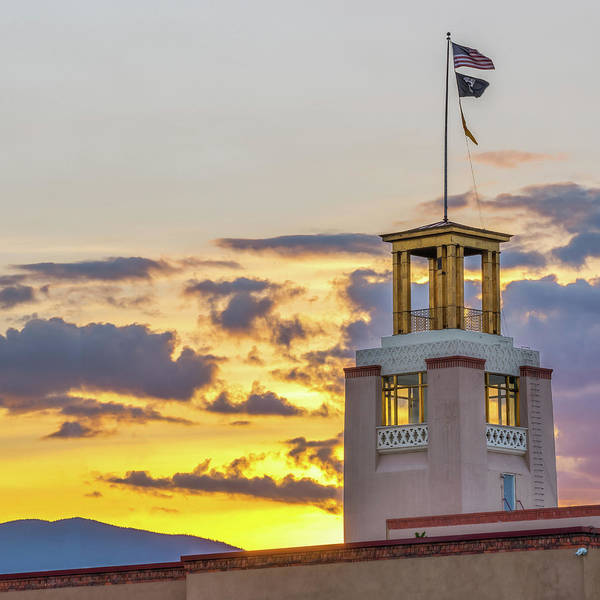 Photograph - Santa Fe Bataan Memorial Sunrise - New Mexico by Gregory Ballos