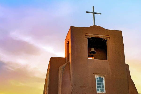 Photograph - Santa Fe San Miguel Mission Chapel At Sunrise by Gregory Ballos