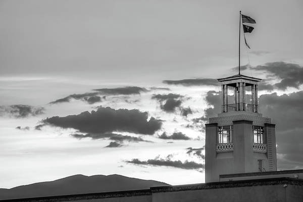 Photograph - Santa Fe Sunrise - Bataan Memorial - New Mexico Monochrome by Gregory Ballos