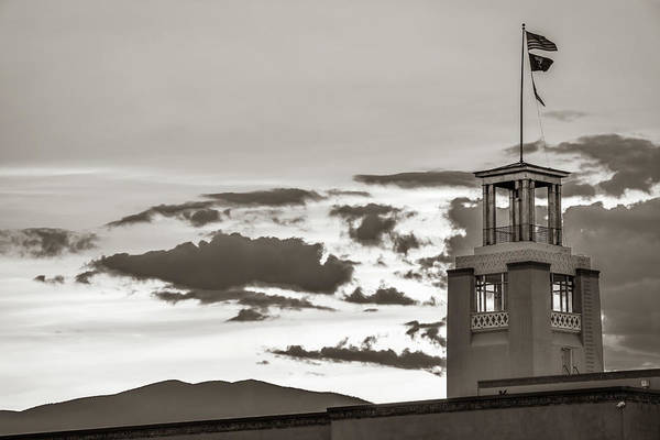 Photograph - Santa Fe Sunrise - Bataan Memorial - New Mexico Sepia by Gregory Ballos