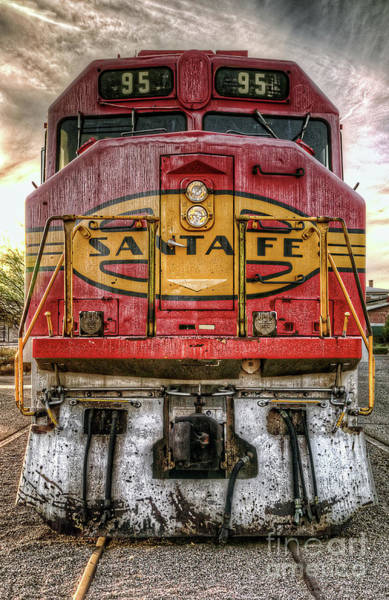 Photograph - Santa Fe Train Engine by Eddie Yerkish