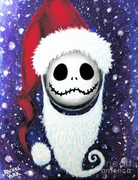 Skellington Painting - Santa Jack by Rachel York