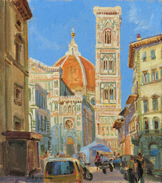 Florence Painting - Santa Maria Del Fiore by Victoria Kharchenko