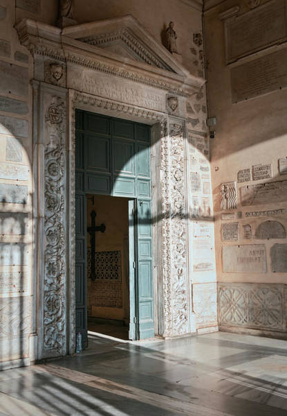 Wall Art - Photograph - Santa Maria In Trastevere Doorway Rome Italy by Joan Carroll