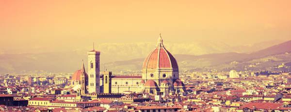 Wall Art - Photograph - Santa Maria Novella Dome In Florence At by Franckreporter