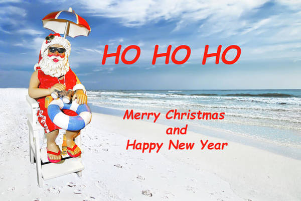 Photograph - Santa Merry Christmas And Happy New Year Card by Kay Brewer