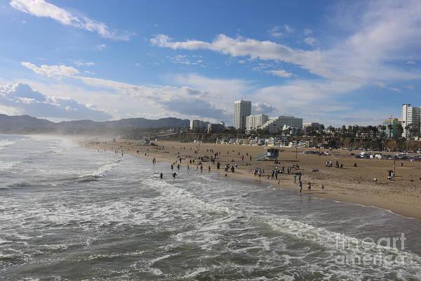 Photograph - Santa Monica Beach , Santa Monica, California by John Shiron