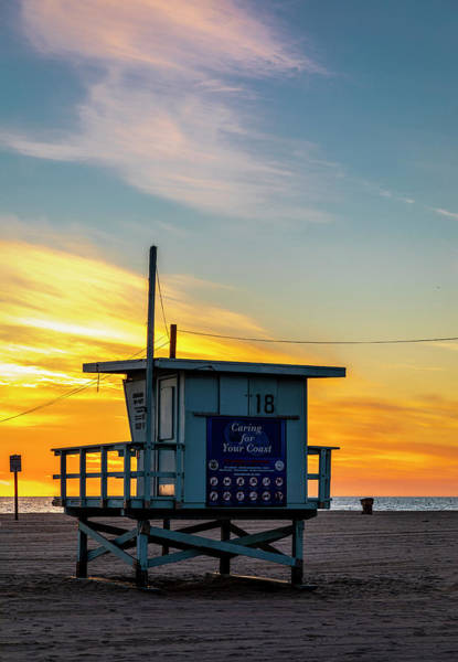 Photograph - Santa Monica Lifeguard Tower 18 #2 by Gene Parks