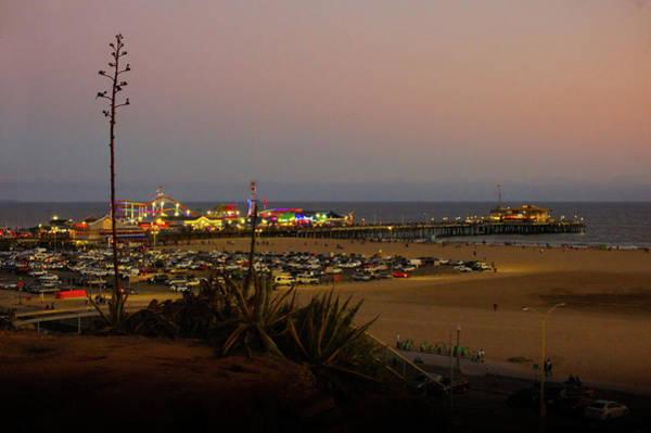 Wall Art - Photograph - Santa Monica Pier And Beach by Art Spectrum