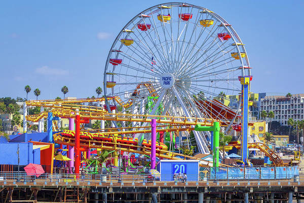 Santa Monica Pier Ferris Wheel Art Print