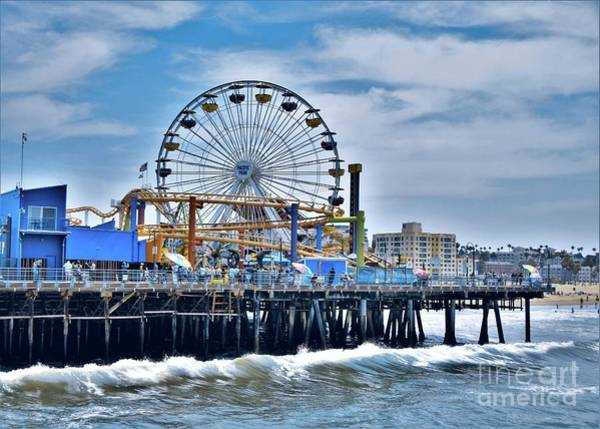 Wall Art - Photograph - Santa Monica Pier by Suzanne Wilkinson