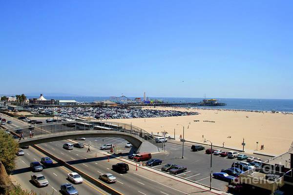 Photograph - Santa Monica - Showing The Pier by Doc Braham
