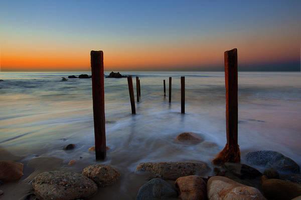 Photograph - Santa Monica Sunrise by John Rodrigues