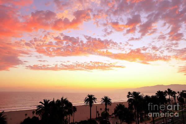 Photograph - Santa Monica Sunset View by John Rizzuto
