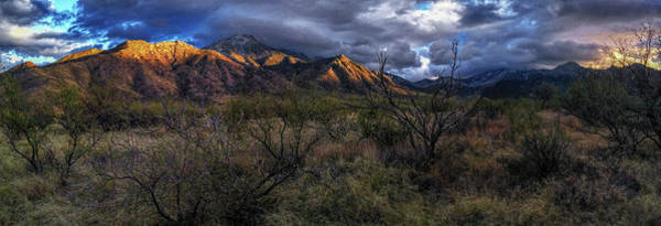Photograph - Santa Rita Mountains Winter Last Light  by Chance Kafka