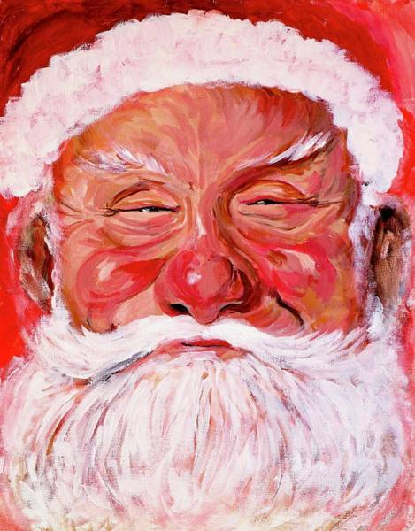 Painting - Santa by Tom Roderick