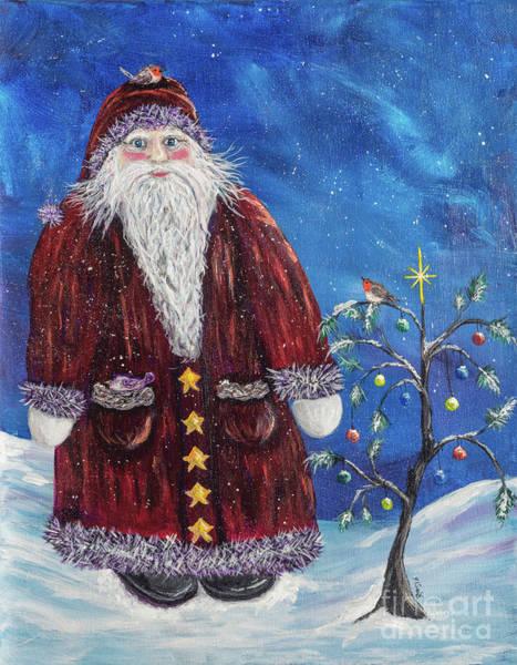 Wall Art - Painting - Santa Visits Friends by Rosie Kuhn