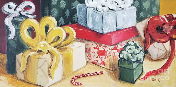 Painting - Santa Was Here by Maria Langgle
