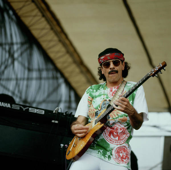 Headband Photograph - Santana Performs At New Orleans by David Redfern