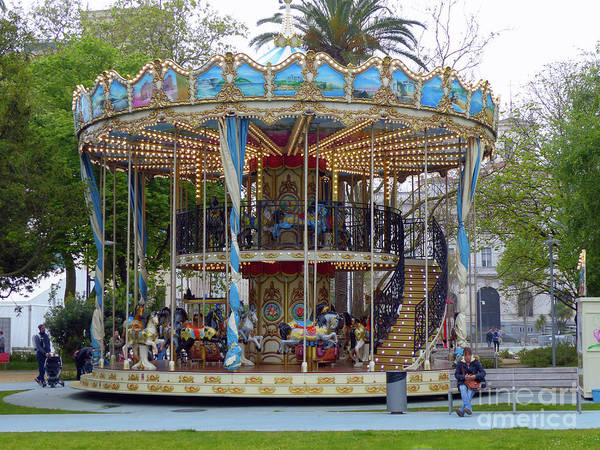 Photograph - Santander Carousel by Phil Banks