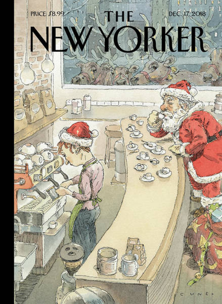 Little Drawing - Santa's Little Helper by John Cuneo