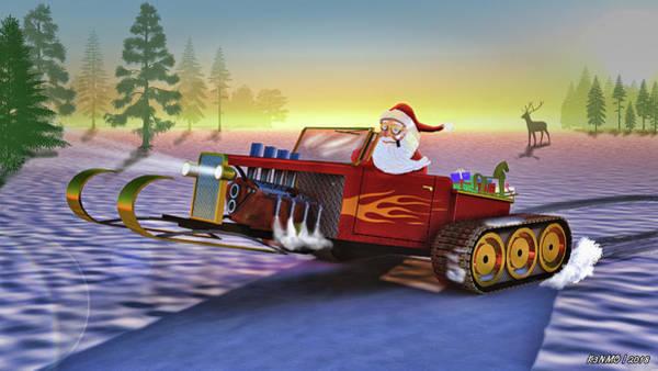Painting - Santa's New Sleigh by Ken Morris