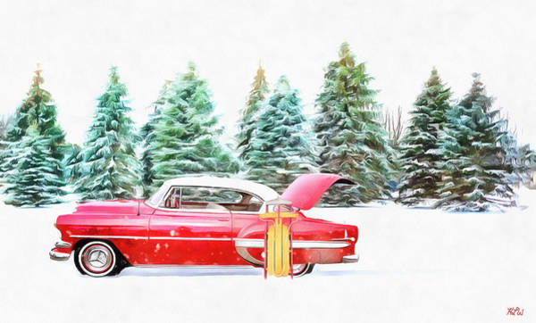Painting - Santa's Other Sleigh by Harry Warrick