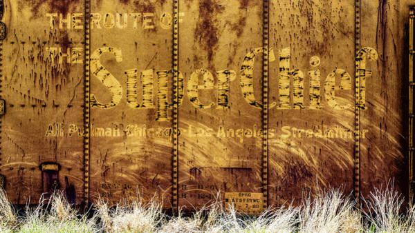 Wall Art - Photograph - Santa Fe Super Chief Boxcar by Stephen Stookey