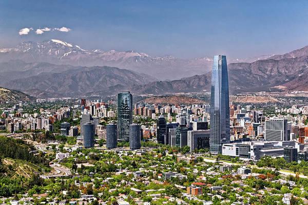 Wall Art - Photograph - Santiago, Chile Skyline by Adam Jones