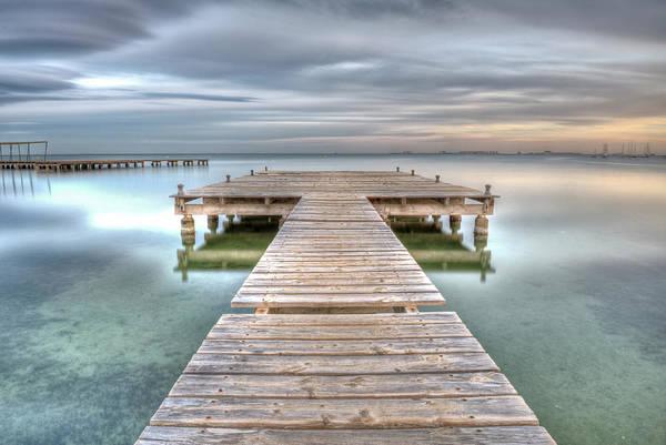 Pier Photograph - Santiago De La Ribera by Javiair Photography