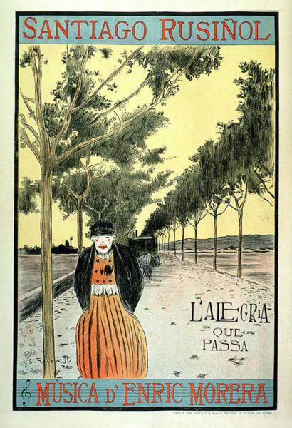 Painting - Santiago Rusinol Musica D Enrique Morera by Vintage French Advertising