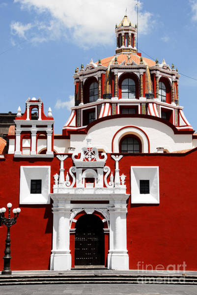 Saint Wall Art - Photograph - Santo Domingo Church, Puebla Mexico by Alberto Loyo