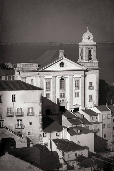 Wall Art - Photograph - Santo Estevao Church Lisbon Portugal Black And White  by Carol Japp