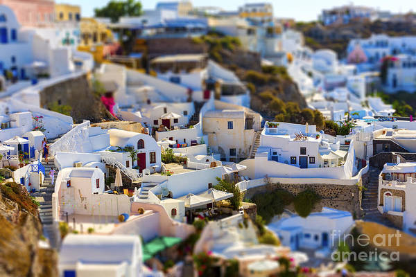 Wall Art - Photograph - Santorini Island, Greece, Tilt-shift by Anastasios71