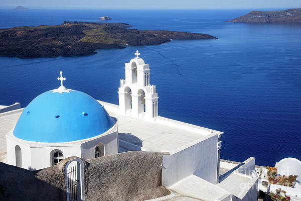Photograph - Santorini Overlook by Scott Kemper