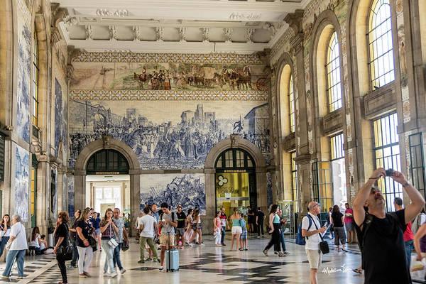 Wall Art - Photograph - Sao Bento Train Station - Porto - Portugal by Madeline Ellis