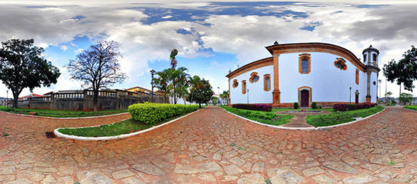 Fish Eye Lens Photograph - Sao Francisco Church by Photo By William Giles