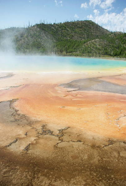 Sulphur Photograph - Sapphire Pool, Yellowstone National by Aaron Mccoy / Robertharding