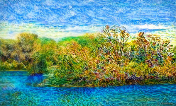 Digital Art - Sapphire Waters by Joel Bruce Wallach