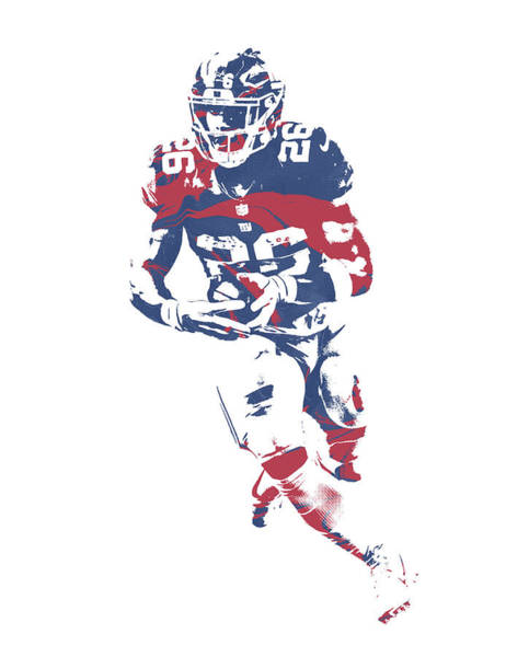 Wall Art - Mixed Media - Saquon Barkley New York Giants Pixel Art 11 by Joe Hamilton