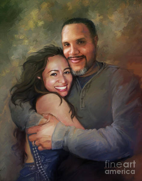 Painting - Sara And Ahmed by Rob Corsetti